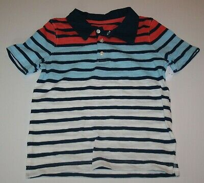 New Carter's Boys Top 3T Polo Dress Shirt Red White Blue July 4th Handsome