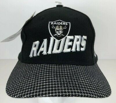 Oakland Raiders Black, White & Silver Adjustable Hat Cap NFL Licensed NWT