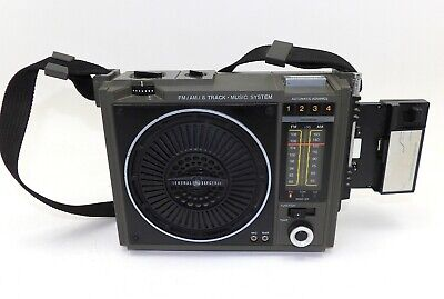 General Electric 3-5507A GE Loudmouth 8 Track Tape & Cassette Player AM/FM