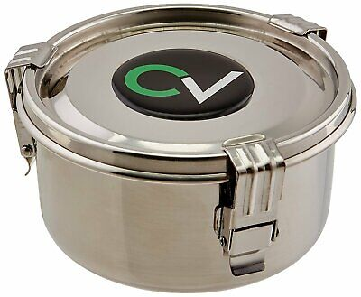 *Genuine* CVault Airtight Storage Container Humidity Controlled 8 Ltr S/Steel