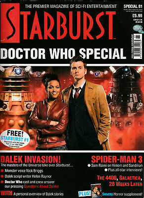STARBURST SPECIAL Magazine Issue 81 - Doctor Who Special & Free Issue 1 (2007)