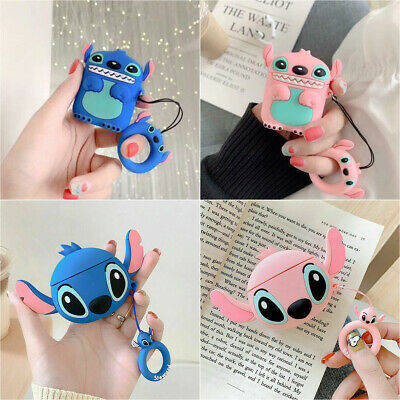 Lilo & Stitch Pendant Strap Earphone Case Cover for Apple Airpods 1/2 Charging