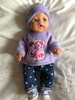 """Doll Clothes to fit 17"""" Baby Born doll ~ 3 Piece Set. Mauve: My Little Pony"""