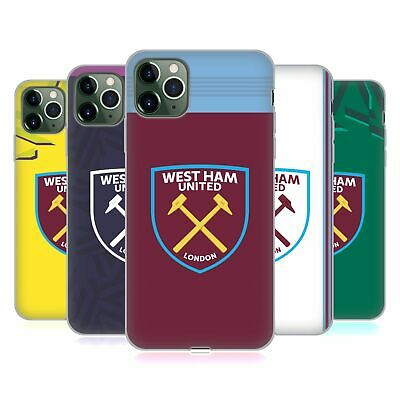 OFFICIAL WEST HAM UNITED FC 2019/20 CREST KIT GEL CASE FOR APPLE iPHONE PHONES