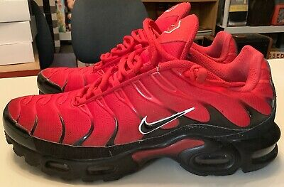 purchase cheap 24389 21d41 Nike Air Max Plus TN Tuned University Red   Black BRED 852630-603 Men s Size
