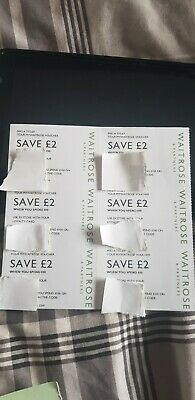 Waitrose Money Off Vouchers Coupons £12 - £2 x 6 or £10 x 6 Valid till 30th June