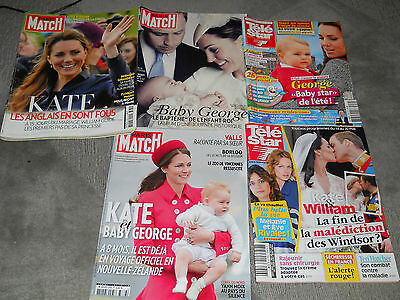 Lot De 5 Magazines Kate Middleton_Prince William_Baby George 2011/13/14