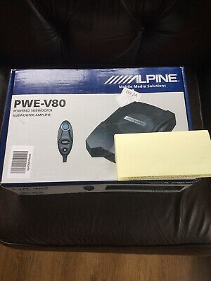 """Alpine PWE-V80 160 Watts 8"""" Inch 20CM Underseat Active Amplified Subwoofer Box"""