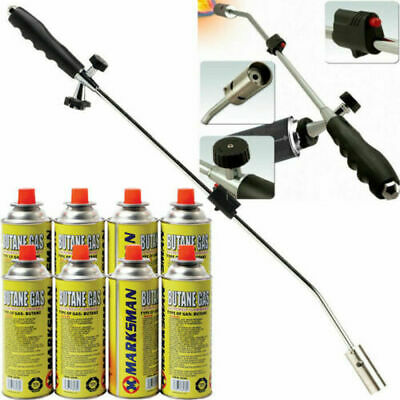 Weed Burner Killer Wand Butane Gas Blowtorch Garden Outdoor Weeds Moss Fungus Ne