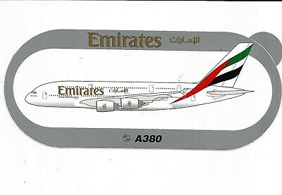 A380 Emirates Airlines 2Nd Modele - Sticker Autocollant Airbus - Neuf
