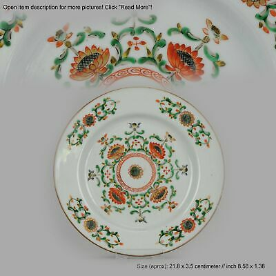 Antique Rare Famille Verte 18th century Chinese Porcelain Flowers Flora...