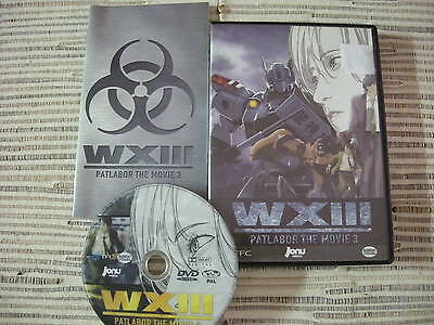 Dvd Anime Pelicula Wxiii Patlabor The Movie 3 Jonu Media Usado En Buen Estado