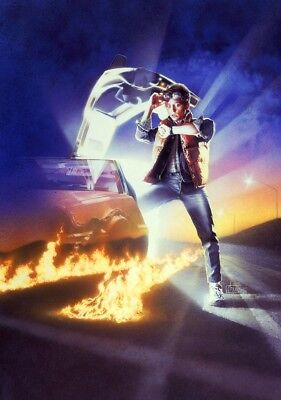BACK TO THE FUTURE Movie PHOTO Print POSTER Film 1985 Textless Michael J Fox 1