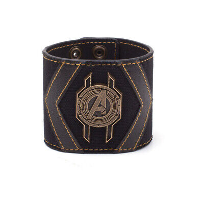 MARVEL COMICS Avengers Infinity War Avengers Crest Wristband One Size Black/Gold