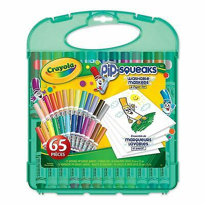 Crayola Pip Squeaks Marker and Paper Set Washable Felt Tips 65 piece set NEW