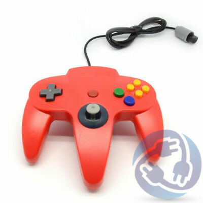 Nintendo 64 N64 Replacement Wired Controller Gamepad - Red