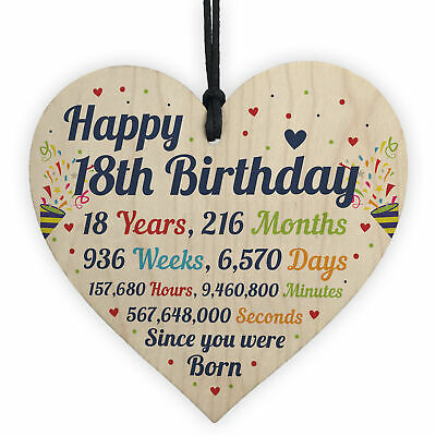 1st 2nd 3rd 10th 16th 18th 21st Birthday Gifts Wood Heart Gift Baby Child Son