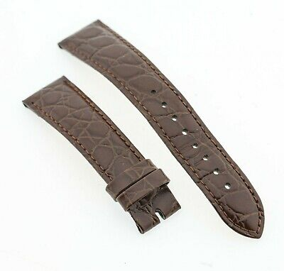 76e60b887 HIRSCH CROCOGRAIN CROCODILE Embossed Leather Watch Strap with Buckle ...