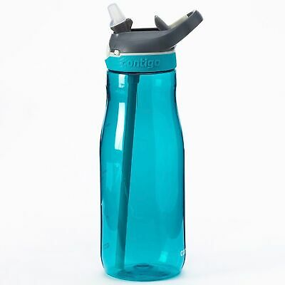 Contigo AUTOSPOUT Ashland 32oz Plastic Water Bottle w/Straw Scuba Blue (3-Pack)