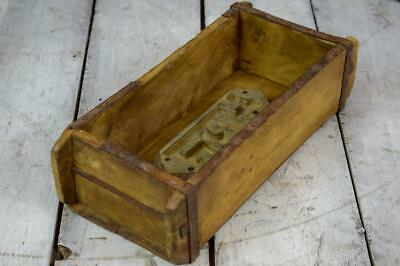 Vintage Wooden Indian Storage Crate Box Brick Mould Rustic LOTS AVAILABLE