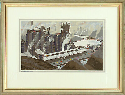 HOWARD L WORNER XRare 1959 Ltd Ed S&N Serigraph J+L AND THE RIVER, Steel Co., PA