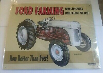 FORD FARMING 8N Tractor Tin Sign 12 x 16in - $24 95 | PicClick