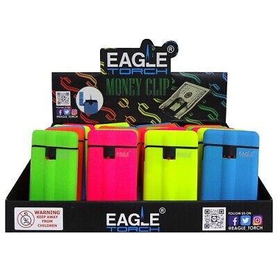 New 825308  Eagle Torch Lighters Money Clip Asst Clr (20-Pack) Bbq And Grill