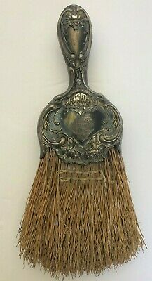 Antique Sterling Silver Repousse Whisk Broom  By Wallace