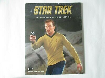 STAR TREK The Official Poster Collection 32 Removable Posters New & Sealed.
