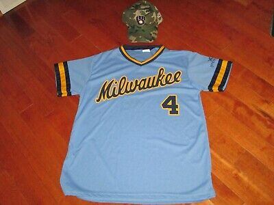 size 40 7b4fd e55f3 MILWAUKEE BREWERS PAUL Molitor 1982 Replica Jersey Giveaway ...