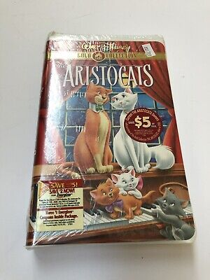 New - Walt Disney The Aristocats VHS Gold Classic Collection - Factory Sealed