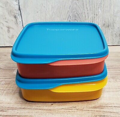 TUPPERWARE Lunch-It Container Set/2 Perfect Portion Divided Dish Bowl