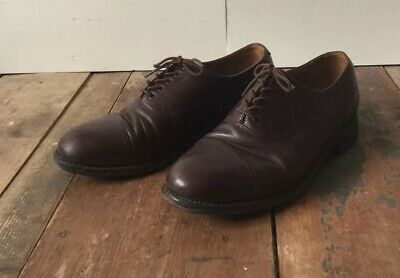 Vtg 40s Mens Cap Toe Work Dress Oxford Learher Shoes Northampton Made In England