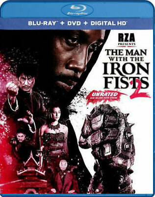 The Man with the Iron Fists 2 (Blu-ray/DVD, 2015, 2-Disc Set) - Like New
