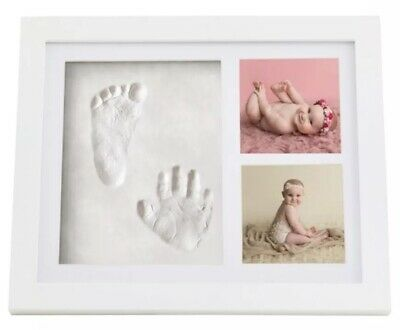 Premium Clay Baby Footprint & Handprint Picture Frame Kit -Best Baby Shower Gift
