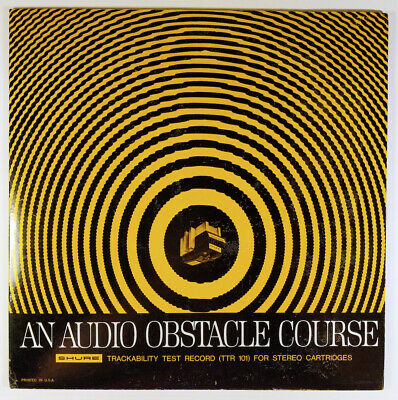 Audio Obstacle Course Shure Trackability Test Record 1967 INSERT TTR 101 Stereo