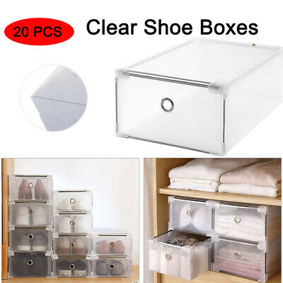 MULTI CLEAR HIGH Heel Shoe Box Storage Boxes Plastic Drawer