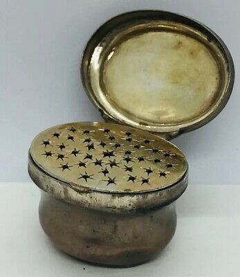Antique German 18th Century Sterling Silver Vinaigrette Box