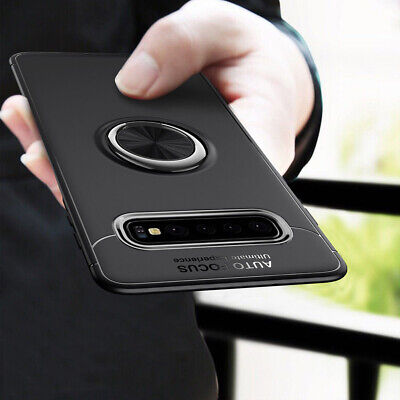 Magnetic Ring Holder Hybrid TPU + Metal Case Cover For Samsung Galaxy S10 Plus