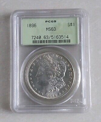 1896 Morgan Silver Dollar In MS63 Grade..superb example.