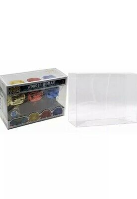 Funko Pop 3 Pack Protector Display Case for Figure Boxes - 5 Count