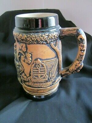 Pottery German Beer Stein, Tankard