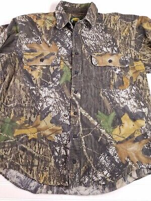 6983bf88f3090 Cabelas Camouflage button front hunting long sleeve shirt men's sz large  tall B2