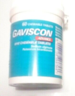 GAVISCON ADVANCE. Chewable Heartburn  Indigestion Tablets. 10 X 60. SEALED TUBS.
