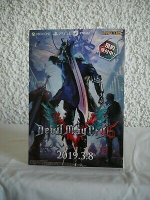 Devil May Cry 5 Resident Evil 2 Remake Promo Pappaufsteller Display Standee Rare