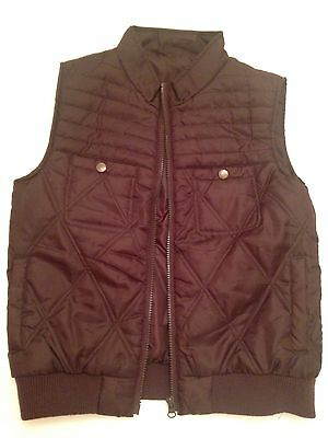 Cherokee Chocolate Brown Girls Gilet Body Warmer Age 10 Years VGC