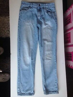 Boys Blue Denim Jeans Denim & Co Age 9 - 10 Years Used