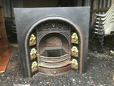 antique cast iron fire surround With Tiles