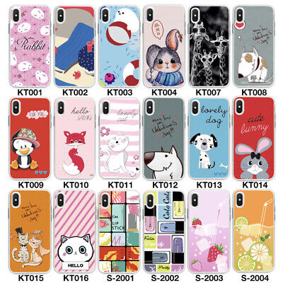 Cover PER Apple iPhone Trasparente Silicone Custodia TPU Colorate con Disegni