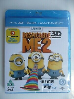 Despicable Me 2 [3D Blu-ray + Blu-ray + UV, 2013, 2-disc set] New and Sealed